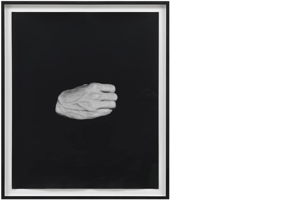Hand on Body (Himself)  2012, Silver gelatin print, 24 x 20 inches