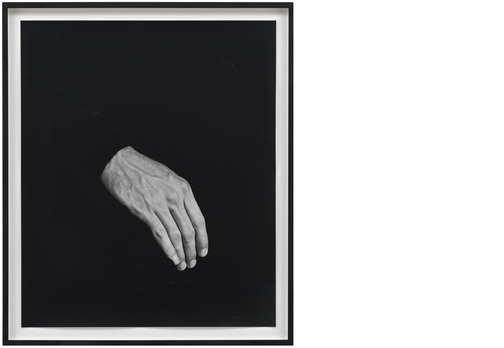 Hand on Body (Thigh)  2012, Silver gelatin print, 24 x 20 inches