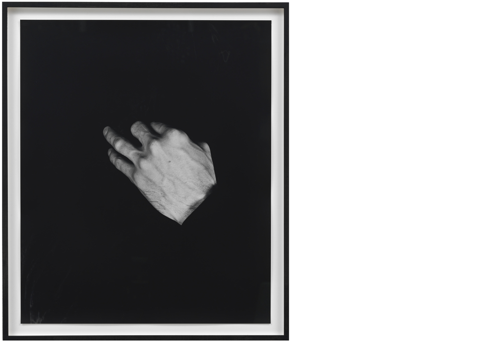 Hand on Body  (Mouth) 2012, Silver gelatin print, 24 x 20 inches