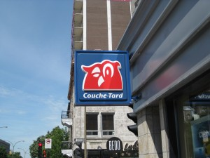"I thought Couche Tard meant ""retarded owl"" but it means night owl..."
