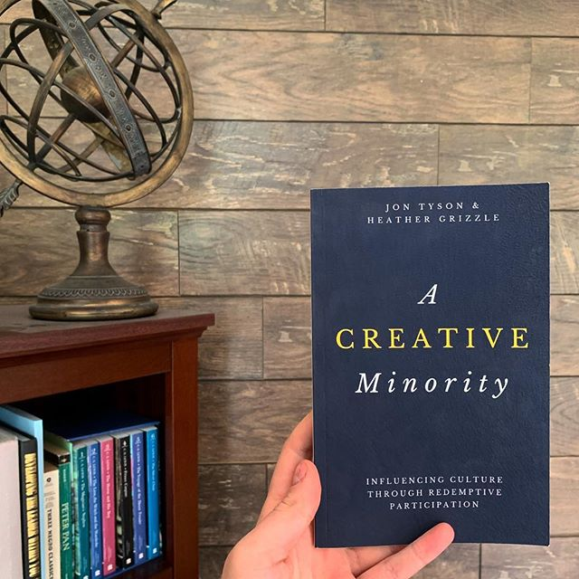 "We are reading ""A Creative Minority"" to finish up our time as a team for the 18-19 school year. As most of our team is graduating this year, we are practically asking the questions on how to live redemptively and radically in culture and in community. Excited to wrap up the year with this book! #bcwvf"