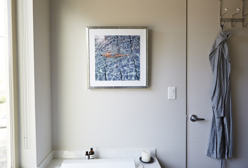 photography print bathroom decor