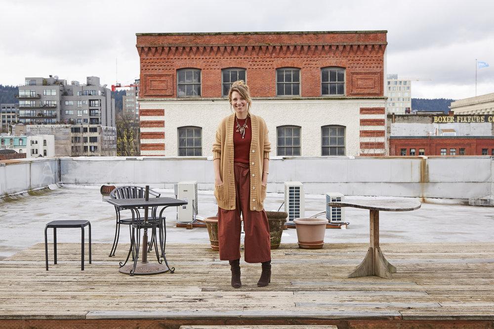Scarlet Chamberlin rooftop
