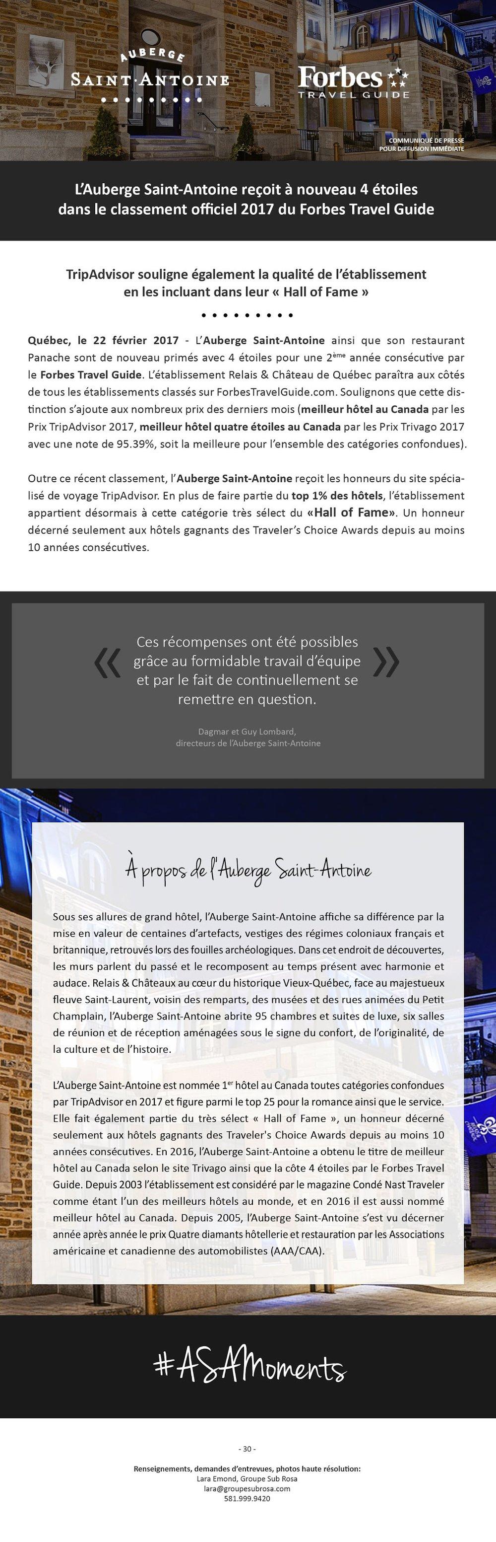 Auberge Saint-Antoine - 22 février 2017