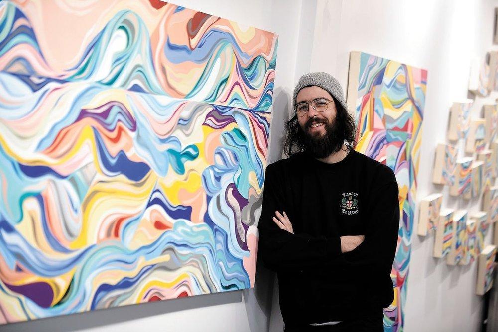 Phelipe Soldevila - Paysages abstraits et couleurs exotiquesJournal de Québec / March 2018