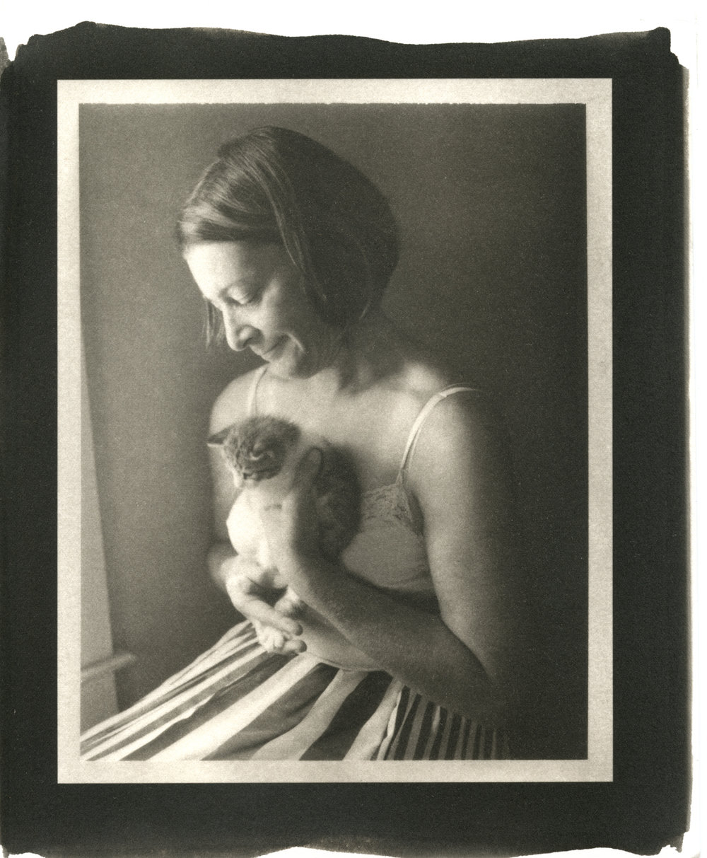 "Carol and Kitten. 2016. Platinum Print. 13"" x 10"""