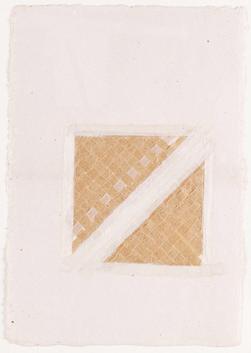"Paper Weaving in Sections. 2008. Paper & Glue. 11"" x 9"""