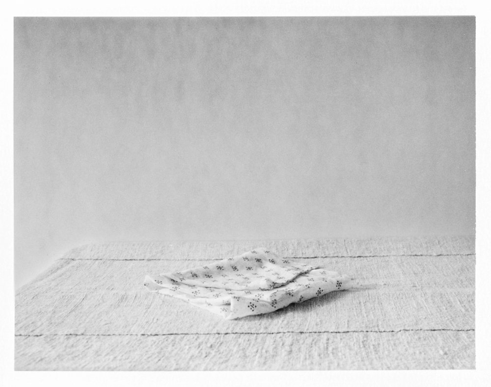 "Folded Cloth. 2016. Archival Pigment Print. 6"" x 8"""