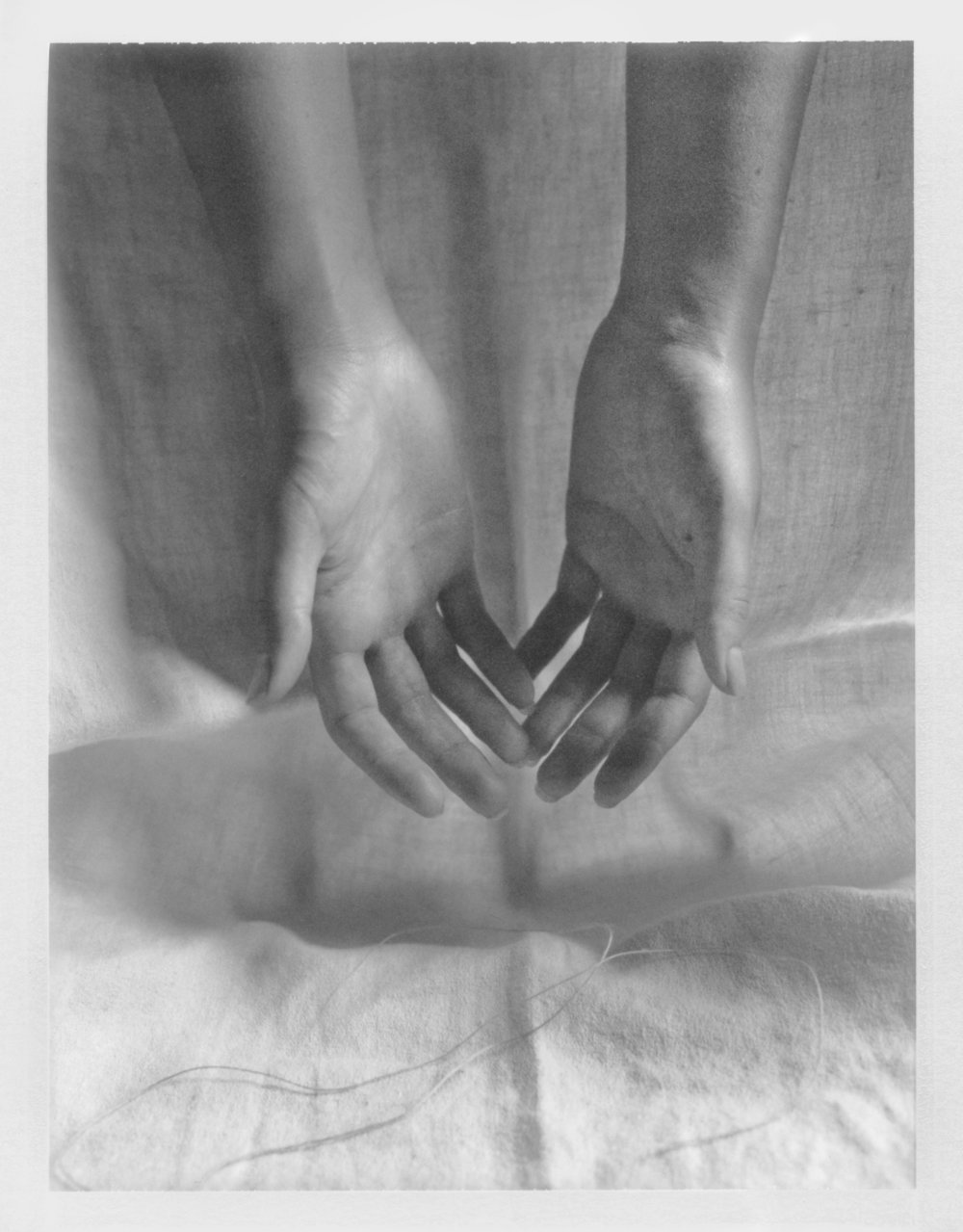 "Fell in Her Hands. 2016. Archival Pigment Print. 6"" x 4"""
