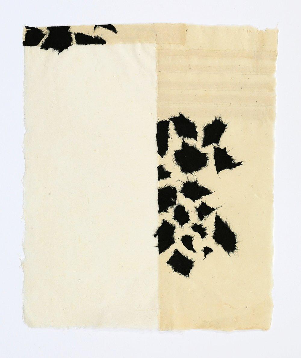 """Black Scraps. 2015. Paper and Glue. 13"""" x 11"""""""