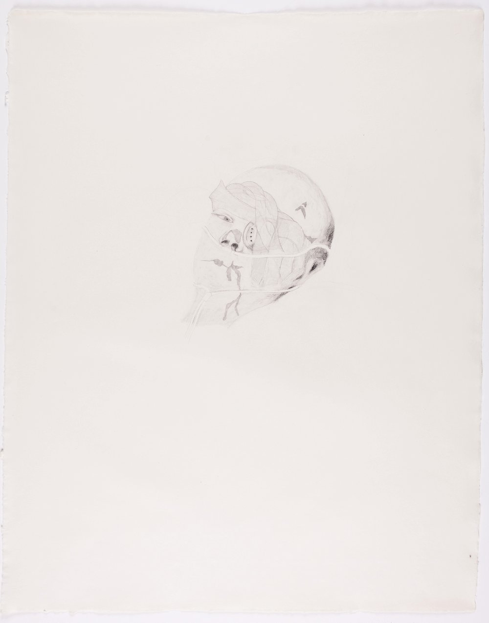 "Bandaged Soldier No.2 . 2003. Pencil on Paper. 26"" x 21"""