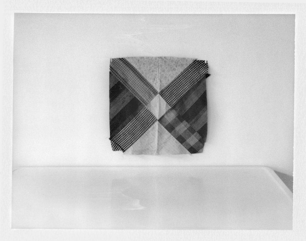 "Quilt Square and Tabletop. 2018. Archival Pigment Print. 7"" x 9"""