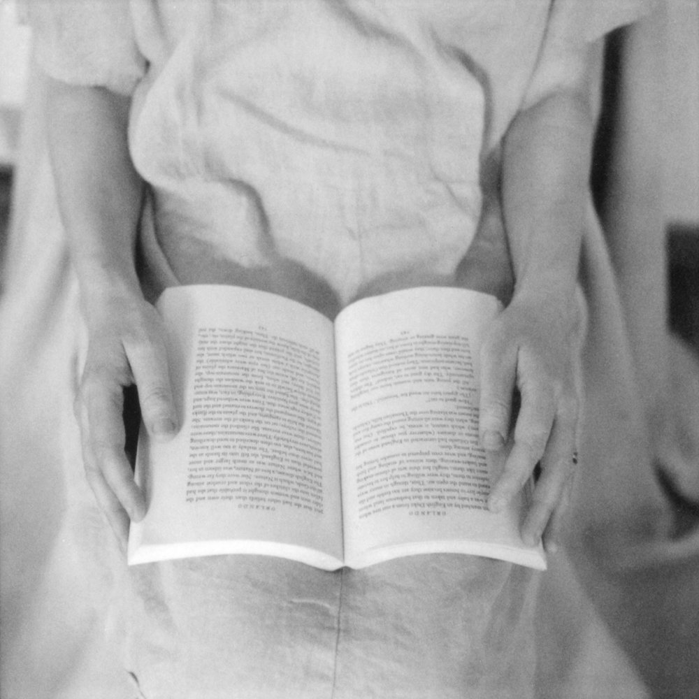 Book in Lap