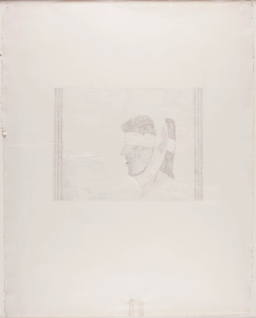 "Bandaged Soldier No.1 . 2003. Pencil on Paper. 26"" x 21"""
