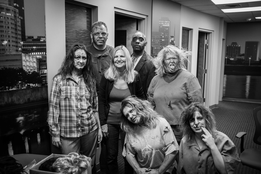 Montgomery County Clerk of Courts: Behind the scenes of a zombie-themed commercial shoot