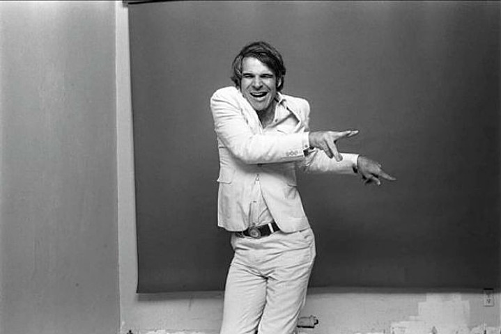 You have to try the beetroot yoghurt!  We love you, Steve Martin!  Photo red Norman Seeff