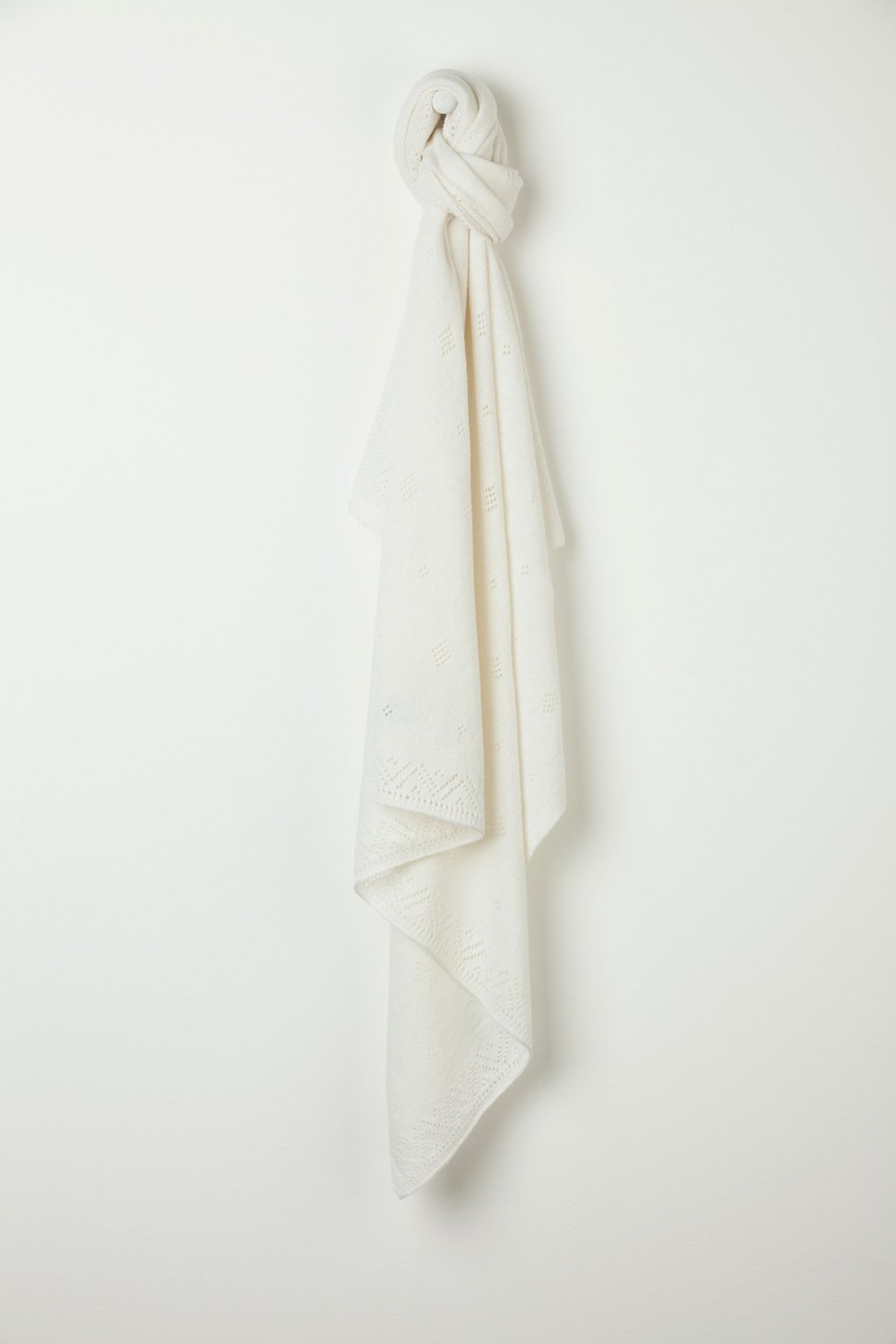 Cashmere blanket - sensory pleasure for little ones and babies alike.  Probably won't stay white for long though!