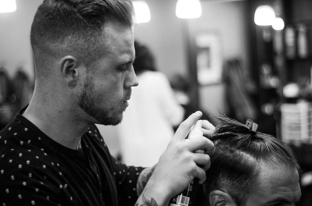 Ralph specializes in high fade mens haircuts