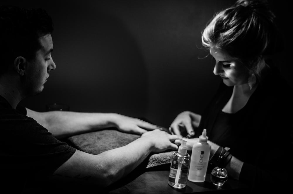 Mens manicure