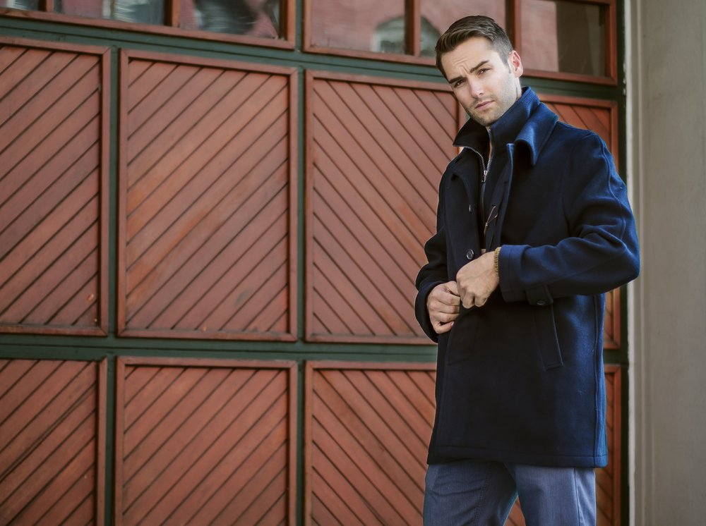 Players Clothing Casual Navy Topcoat