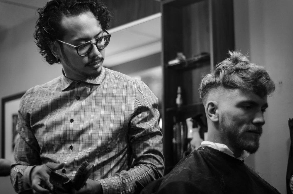 Long providing a best Denver barber haircut