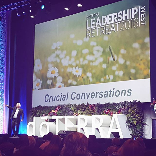 Learning about crucial conversations with Ron McMillan himself #doterra #crucialconversations #leadershipretreat2016