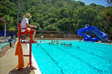 Red Cross Certified Lifeguards monitor the pool