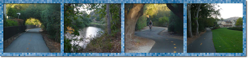 The Bob Jones Trail starts at the parking lot and is a paved trail down to Avila Beach
