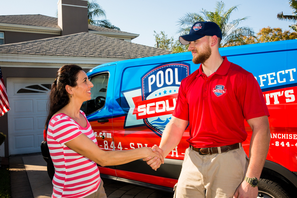 Pool Scouts Technician with Customer