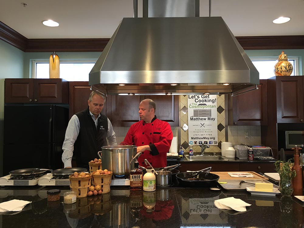 Cooking class with Matthew May