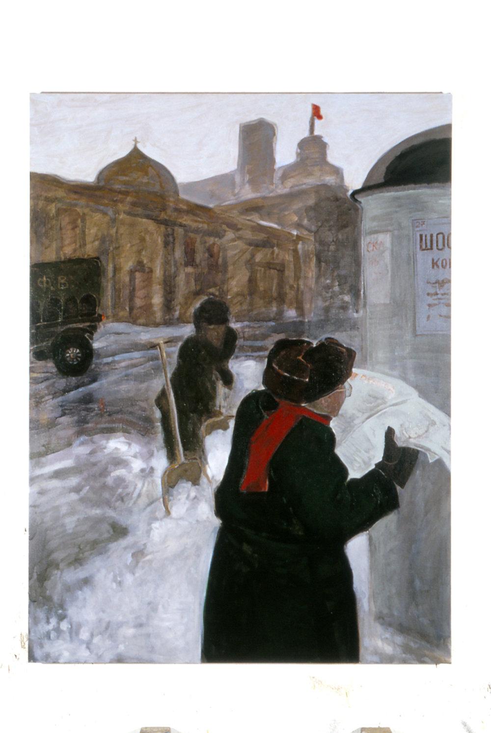 Dimitri Shostakovitch reading Stalin's review of Lady Macbeth, Archangelsk, Jan. 1936