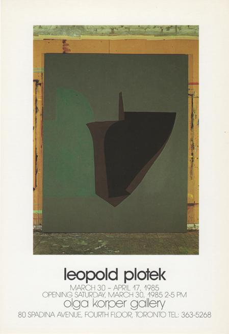 Olga Korper Gallery, Toronto, Canada, 1985 (solo)