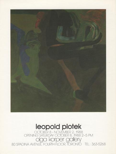 Olga Korper Gallery, Toronto, Canada, 1988 (solo)