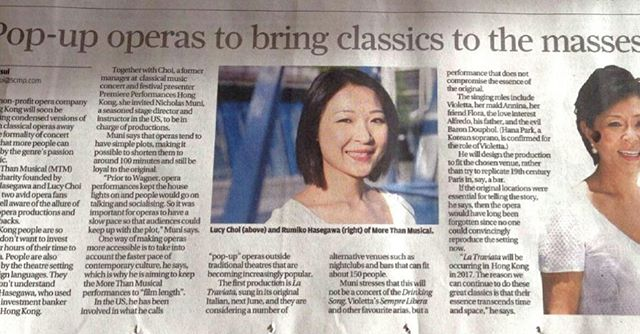 In South China Morning Post on 20 October 2016!!!!! #hongkong #morethanmusical #proud
