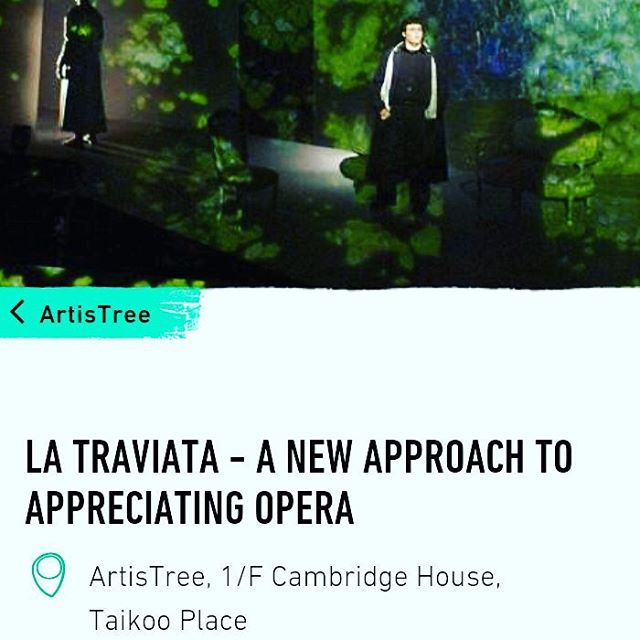 We are pleased to accounce that our first opera #latraviata will be part of #artistree opening program on June 17th and 18th!  www.taikooplace.com/en/Play/Whatson/Artistree/La-Traviata.aspx