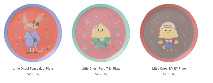 Some of ur Little Ones! Plate collection!