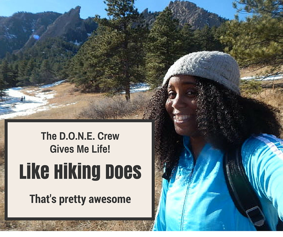 Funny picture of me hiking-Spring 2016. Colorado.