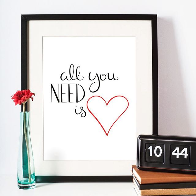 All you need is ❤️ . #love #allyouneedislove #print #artwork #art #lettering #inspiration #homedecor #etsy #illustration #etsyfinds #mompreneur #beatles #scatterbrain