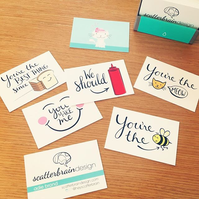 So excited to receive my biz cards today from @moo 😍 Here I come @stationeryshow !! 💌 . #nss2016 #nss #nationalstationeryshow #nyc #moo #businesscards #soexcited #NSS2016 #cards #mompreneur #dowhatyoulove #scatterbrain