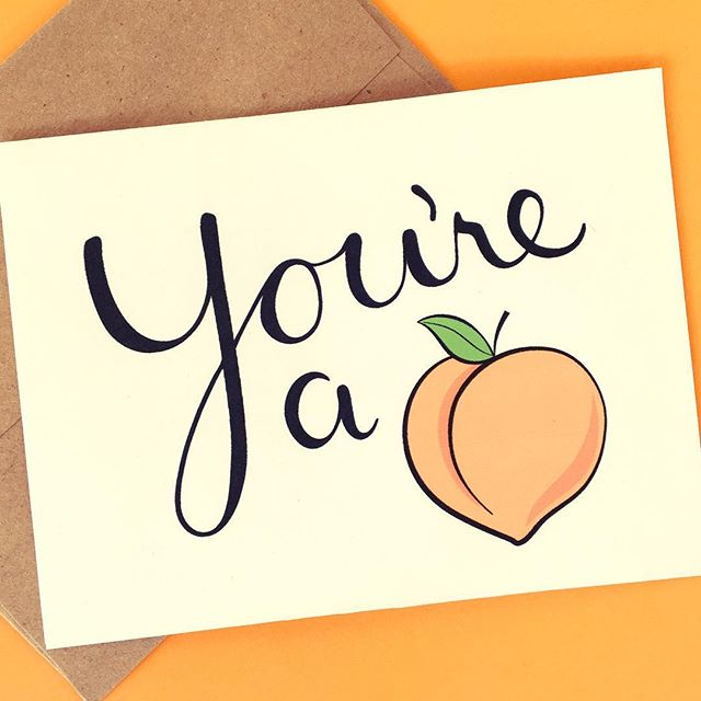 Happy Monday! Today is a holiday in PR so stores are closed and school is off and we are still in weekend mode. 🍹😎🌴 . #youreapeach #card #etsy #peach #cards #etsyscout #etsyshop #snailmail #love #anniversary #justbecause #lovehim #loveher #lettering #pun #mom #mompreneur #scatterbrain