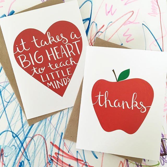 Can't believe the school year is already over! 💌 . #school #teacher #thankyou #etsy #etsyshop #cards #lettering #love #preschool #preschoolteacher #mompreneur #nss2016 #summer #scatterbrain
