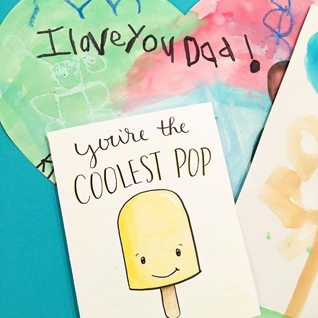 Happy Father's Day!! 👔🎉 . #fathersday #happyfathersday #dad #daddy #celebrate #card #cards #love #pop #popcicle #mompreneur #scatterbrain #papa
