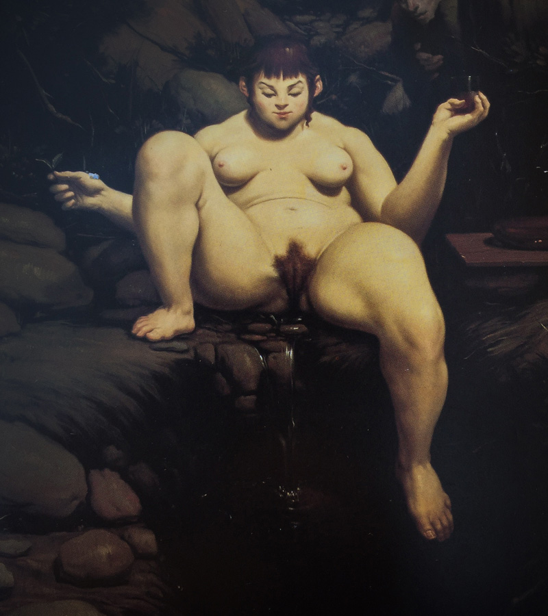 Wainer Vaccari, Gioconda, Detail, 1992   Placements:  BACK | CHEST & ABS | BACK & NECK | 1 ARM & 1 CHEST | THIGH | ARM |
