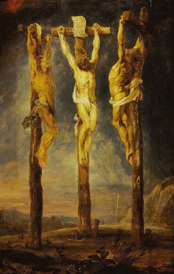 Peter Paul Rubens, The Three Crosses, 1620.   PLACEMENTS:  BACK | CHEST & ABS | 1 ARM, CHEST, NECK & ABS | ARMS, CHEST & ABS | BACK & ARMS |  BODYSUITE |