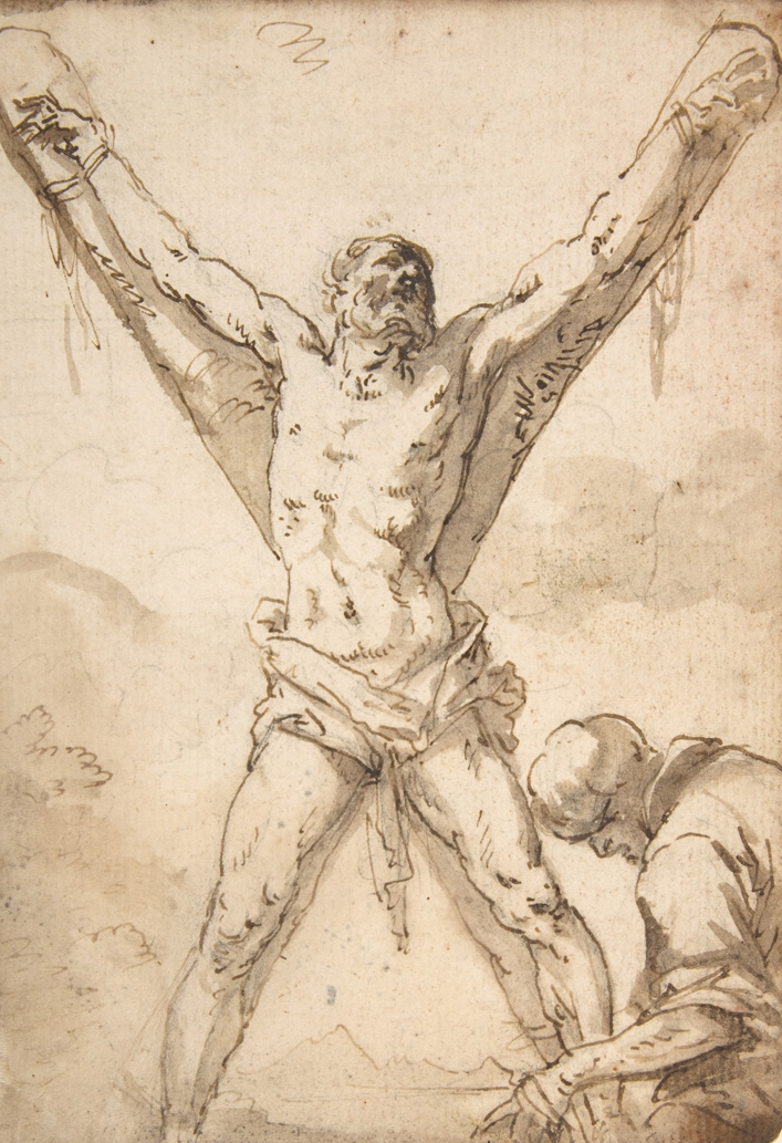 Salvator Rosa, Martyrdom of St. Andrew, 1615/1673.   PLACEMENTS: BACK | CHEST & ABS | 1 ARM, CHEST & ABS |