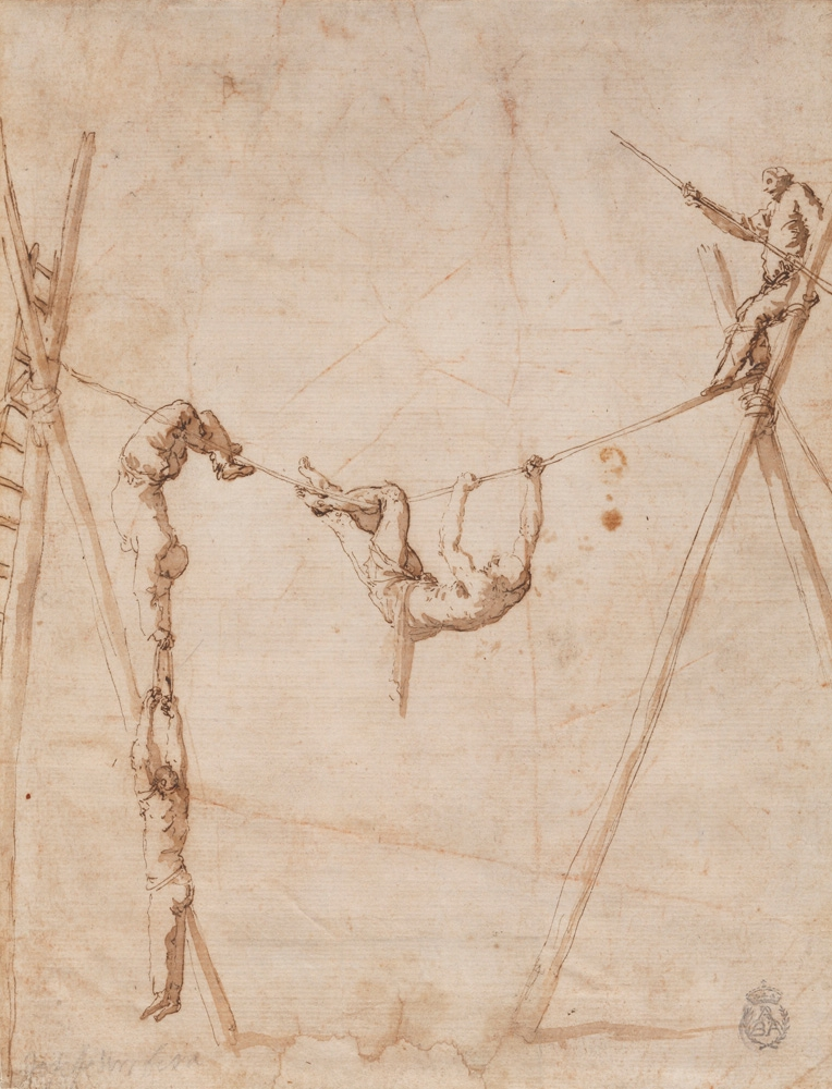 José de Ribera, Acrobats on the rope, 1630