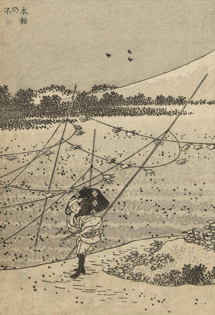 One hundred views of Mount Fuji, Hokusai, 1835