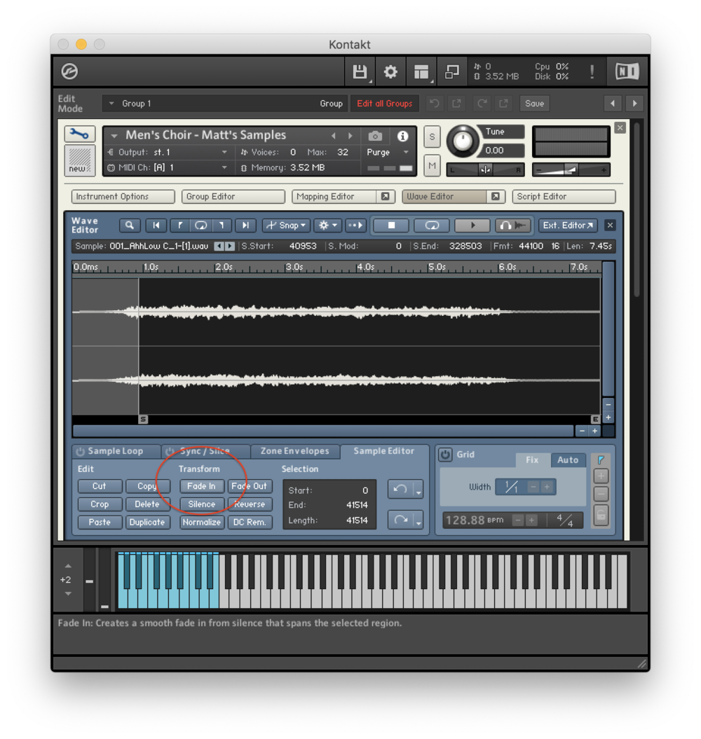 Kontakt Library Tutorial Wave Editor