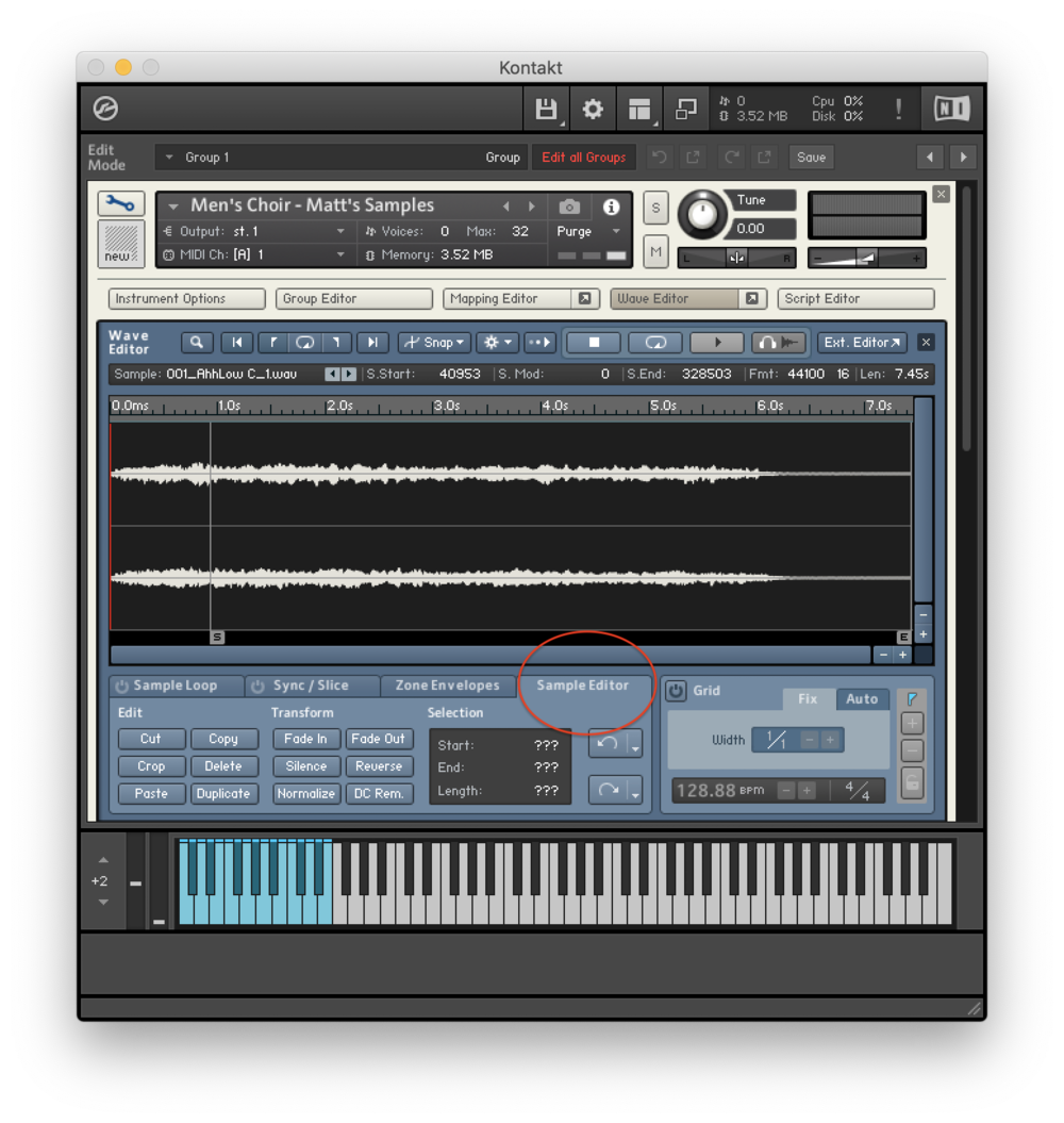 Kontakt Library Sample Editor