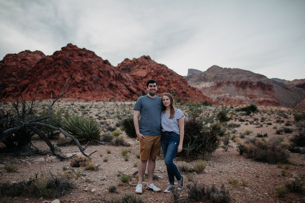 - My husband + I in Red Rock Canyon, Las Vegas, NV.